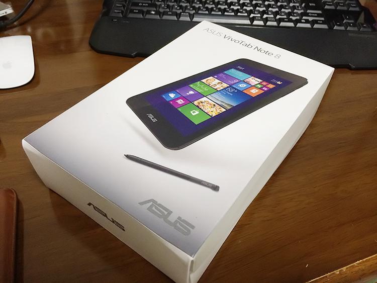 Vivotab Note 8 が届いた。