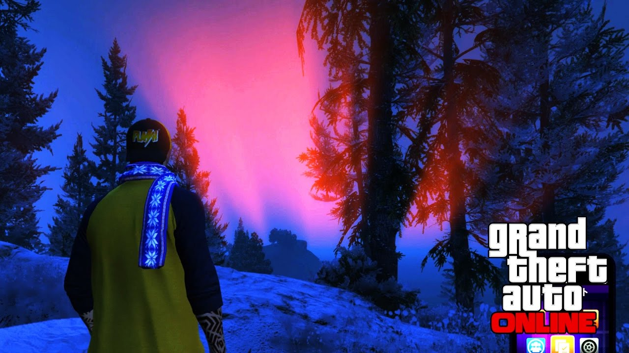 【PC版GTA Online】降雪期間限定のオーロラ見学 【オーロラの彼方へ】